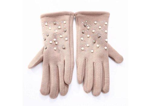 Peach Accessories HA72 Beige Pearl Gloves