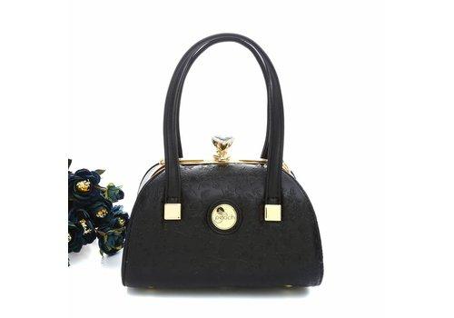 Peach Accessories ZW61329 Black Floral Vintage Bag