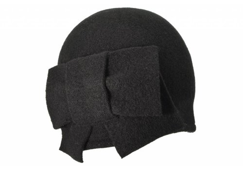 Seeberger Seeberger 011057/10 Black Wool Hat