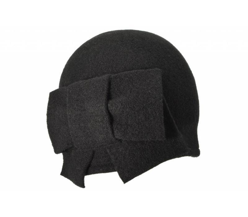 Seeberger 011057/10 Black Wool Hat