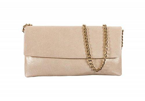 Le Babe Le Babe Luce Gold Flapover Bag