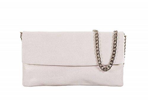 Le Babe Le Babe Luce Silver Flapover Bag