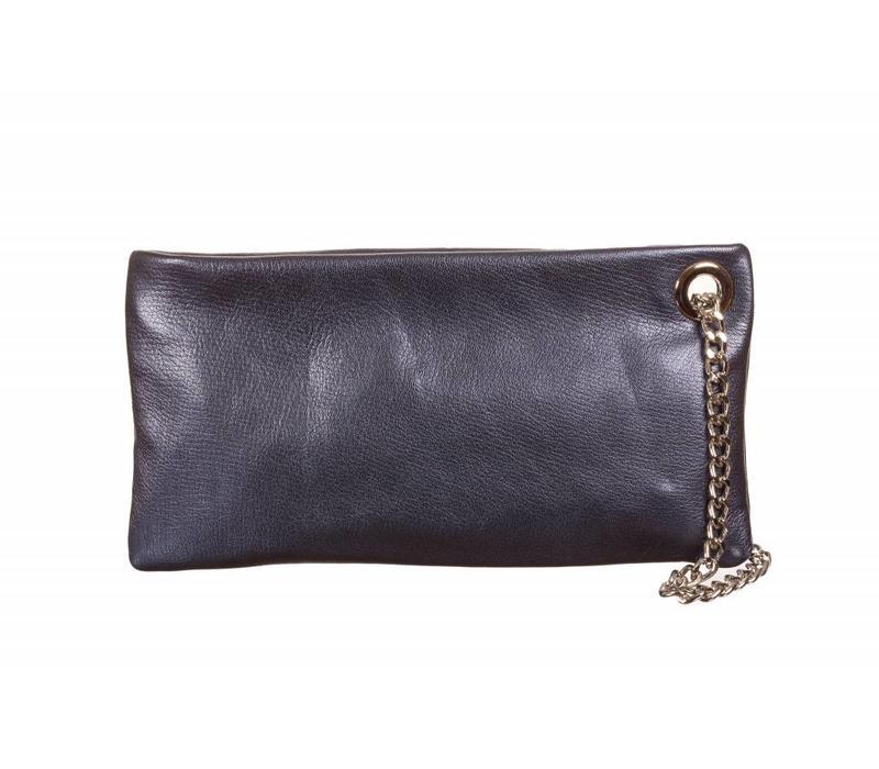 Le Babe Perlato Navy Ziptop Bag