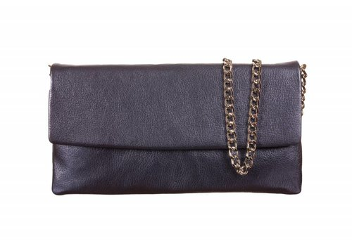 Le Babe Le Babe Perlato Navy Flapover Bag