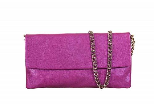 Le Babe Le Babe Perlato Violet Flapover Bag