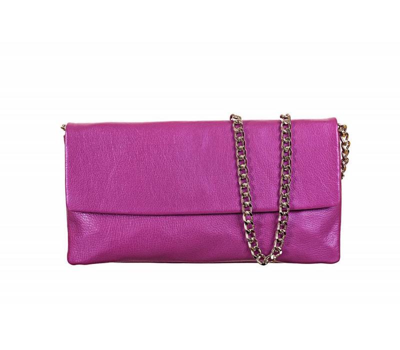 Le Babe Perlato Violet Flapover Bag
