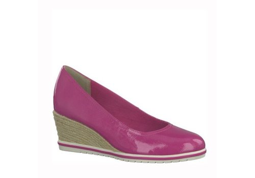 Tamaris Tamaris 22441 Pink Patent Wedge