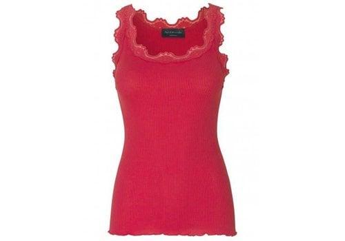 Rosemunde Rosemunde 5405-409 Silk Top W/Lace Strawberry