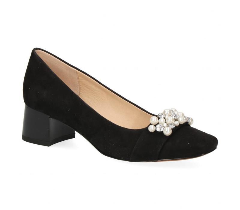 Caprice 22311 Black Suede Pearls