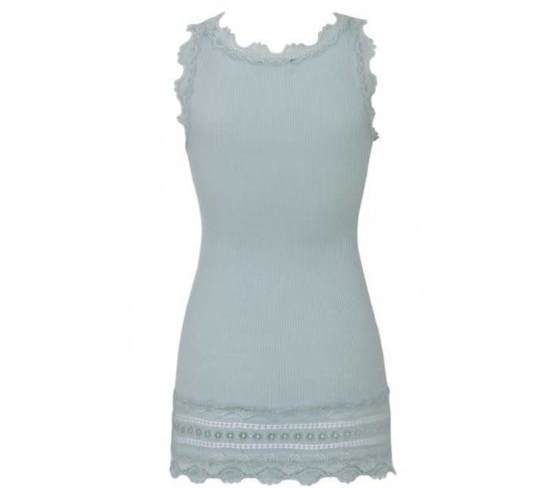Rosemunde 5315-217 Blue Silk Top with Lace