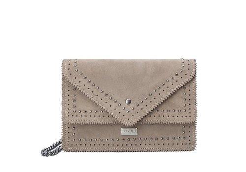 Carmela Carmela 86102 Taupe Suede Bag