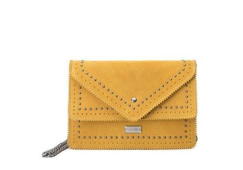 Carmela Carmela 86102 Yellow Suede Bag
