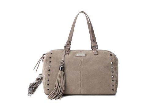 Carmela Carmela 86093 Taupe Suede Bag