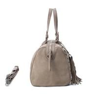 Carmela 86093 Taupe Suede Bag