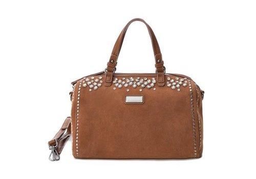 Carmela Carmela 86103 Tan Suede Bag