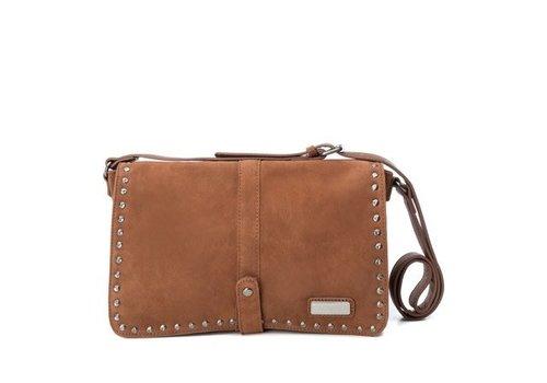 Carmela Carmela 86099 Tan Suede Bag