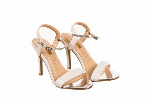 Glamour Glamour SUZY White Strap Sandals