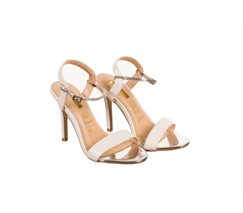 Glamour SUZY White Strap Sandals