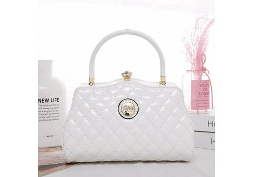 Peach Accessories ZW1803 Quilted White Bag