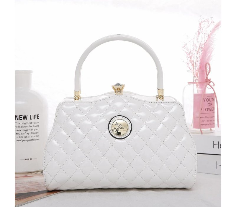 ZW1803 Quilted White Bag
