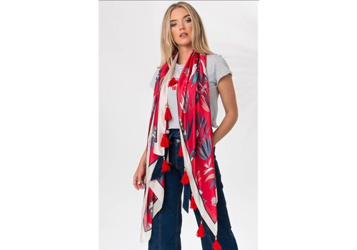 Pia Rossini RIA SCARF RED PRINT