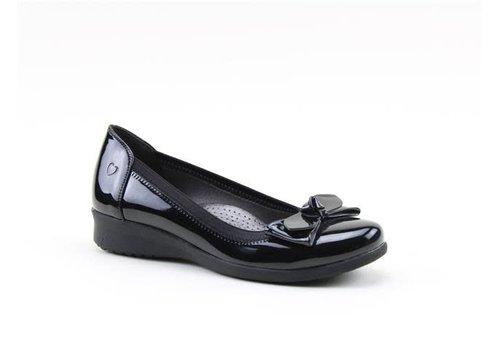 Heavenly Feet H.F. SAGE Black Patent Pumps