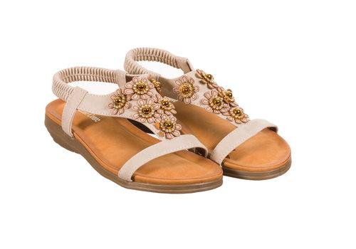 Valentino Conte REDZ 11K11-25 Beige Flower Sandal