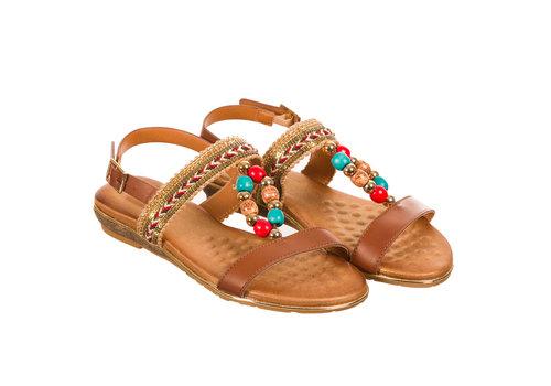 Valentino Conte REDZ QF8883-34 Tan Sandals