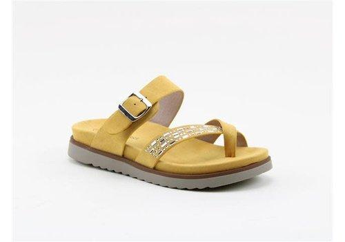 Heavenly Feet H.F. AVA Mustard Toe Post Sandals
