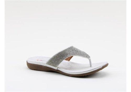 Heavenly Feet H.F. MAISIE Silver/Diamonte Toe Post