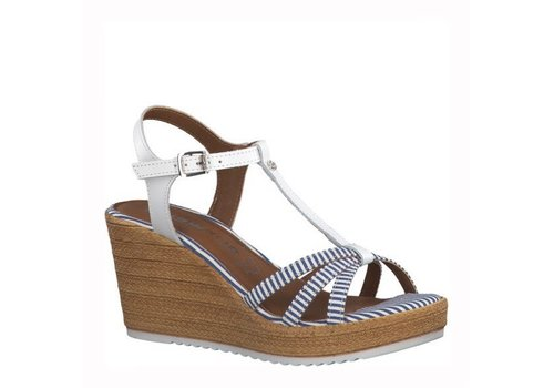 Tamaris Tamaris 28380 White/Blue Wedge