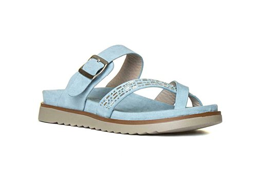 Heavenly Feet H.F. AVA Blue Toe Post Sandals