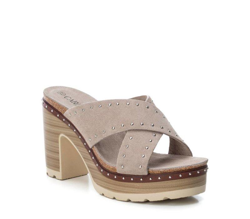 Carmela 66674 Taupe Suede Sandals
