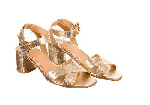 Perlato Perlato 11089 Gold leather Sandals