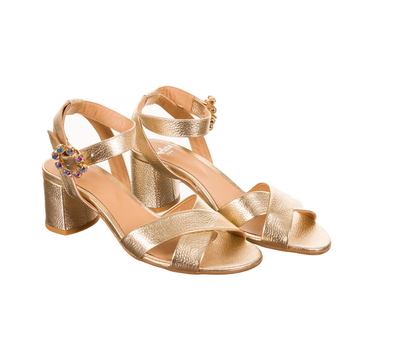 Perlato 11089 Gold leather Sandals
