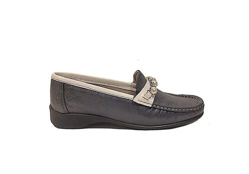 Teresa Torres Teresa Torres 5286 Navy Metallic Loafers