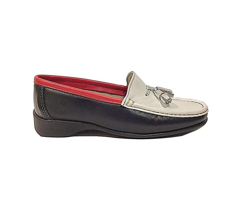 Teresa Torres 5271 Navy multi Loafers