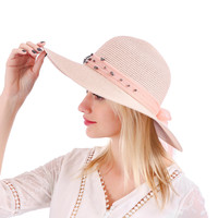 WH149 Wide brim Blush Sun Hat