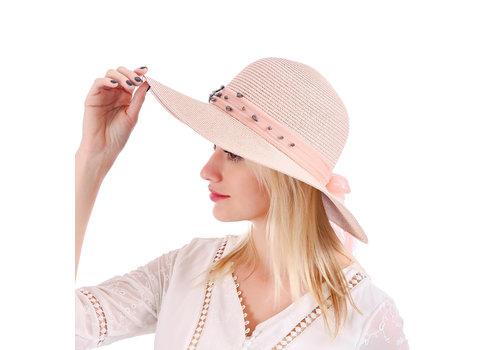 Peach Accessories WH149 Wide brim Blush Sun Hat