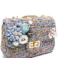 CH-001 Baby Blue Tweed Bag