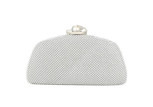 Peach Accessories 8959 Silver Crystal/ Pearl clasp Bag