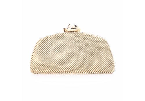 Peach Accessories 8059 Light Gold/Pearl clasp Bag