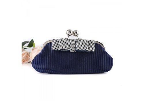 Peach Accessories 15887 Navy Clutch Bag