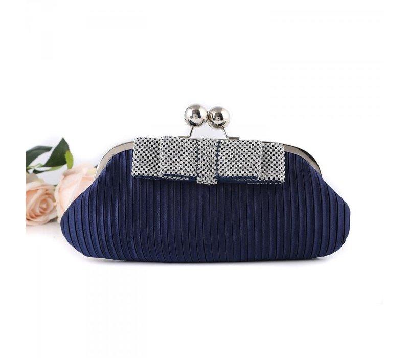 15887 Navy Clutch Bag