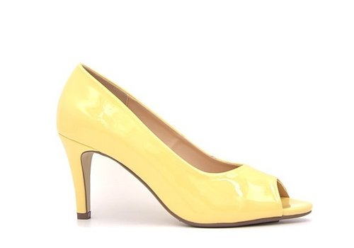 Milly & Co. Milly & Co. PAIGE Yellow Pat Peep-toes