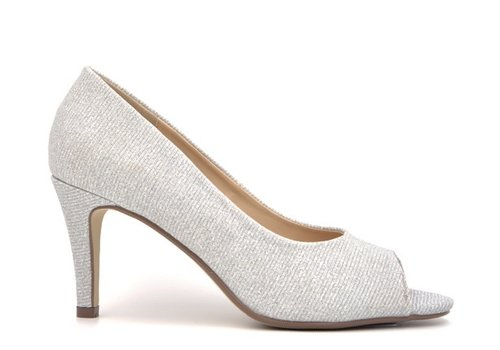 Milly & Co. Milly & Co. PAIGE Silver glitter Peep-toes