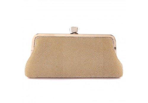Peach Accessories 1093 Gold Clutch Bag