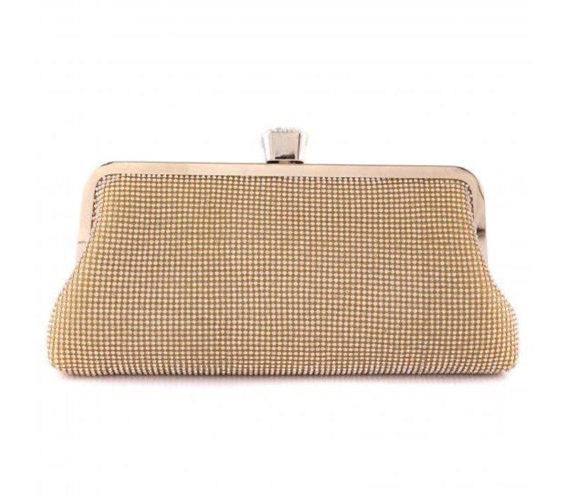 1093 Gold Clutch Bag