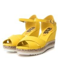 Refresh 69811 Yellow Canvas Sandals
