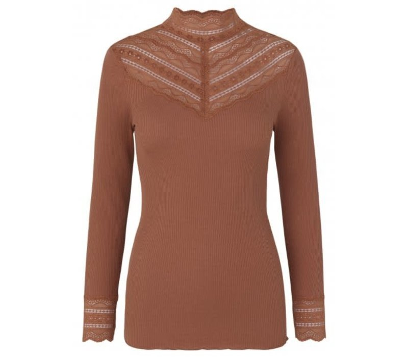 Rosemunde 5023-865 High neck silk top